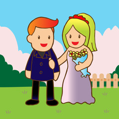 just married Illustration of wedding