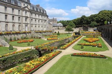 Le jardin  du château de l'Hermine à Vannes