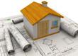 canvas print picture - Planning Home Concept - 3D