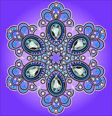 of snowflake gems on serenevom background