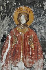 wall painting saint