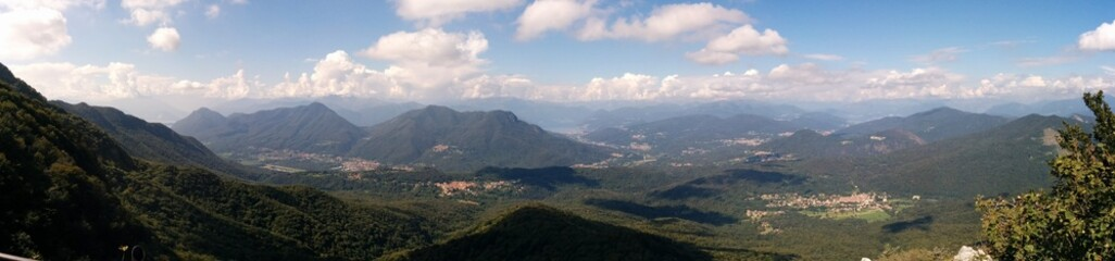 Panoramica del campo dei Fiori, Varese