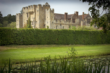 English castle and grounds