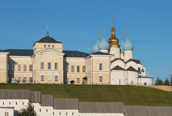 Hierarchal house and Annunciation Cathedral. Kazan, Tatarstan