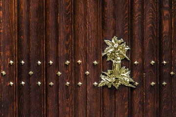 Wood planks and metal decor art texture, Brugge