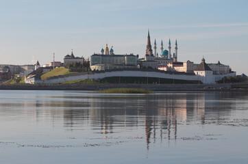 Kremlin in Kazan in morning. Tatarstan, Russia