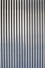 chrome ribbed metal sheet
