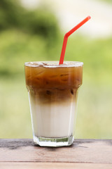 Ice coffee caramel Latte