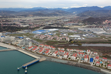 Olympic village, Sochi, Russia. Top view