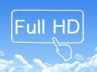 Full HD message cloud shape
