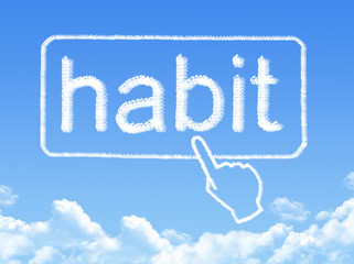 habit message cloud shape