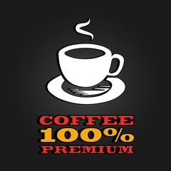 premium coffee cup label concept menu. poster