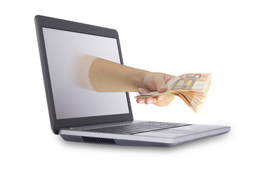 Concept of earn money online