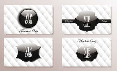 Vip black and white banners with the abstract background