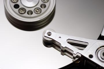 Inside the hard disk drive