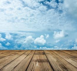 sky and wood floor