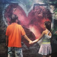 Kids heart graffiti