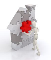 Building a House Concept