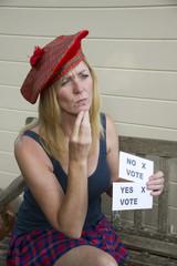 Scottish Referendam undecided  female voter Yes or No
