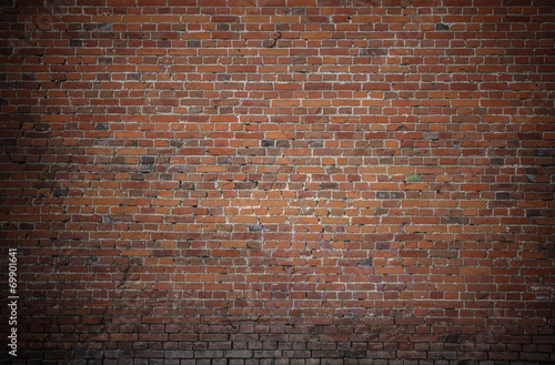 Poster Industrial geb. old brick wall