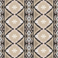 Geometric floral abstract seamless pattern background