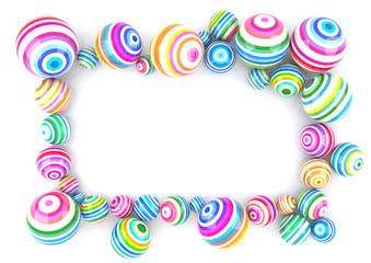 Colored Balls Frame