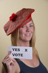 Scottish Referendam yes vote from this female voter