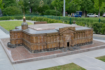 The model of the Engineering (Mikhaylovsky) lock in St. Petersbu