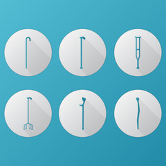 Flat icons for orthopedic equipment