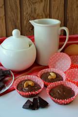 Preparation of chocolate cakes.
