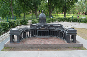 The model of Kazan Cathedral in St. Petersburg