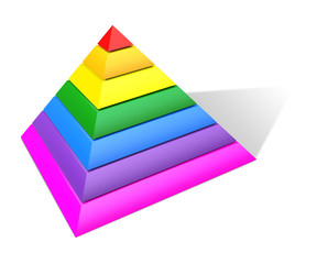 Multicolored Pyramid