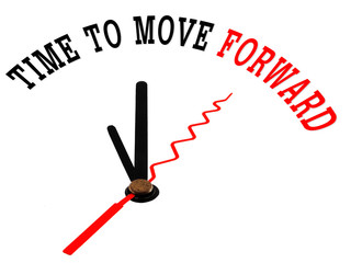Time to move forward on a white clock