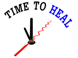 Time to Heal with clock concept