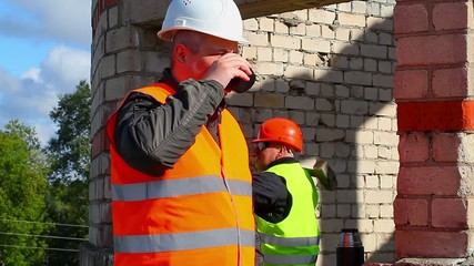 Construction Engineer with cup of coffee