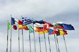 Flaggen, Fahnen, Europäisches Parlament, Europäische Union
