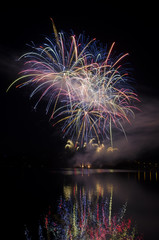 Party with colorful fireworks show