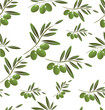 Green Olive seamless background