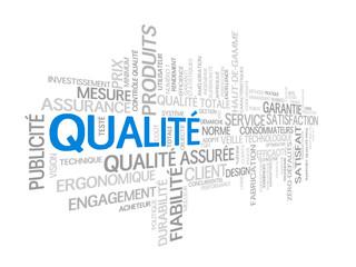 """Nuage de Tags """"QUALITE"""" (garantie service client qualité totale)"""