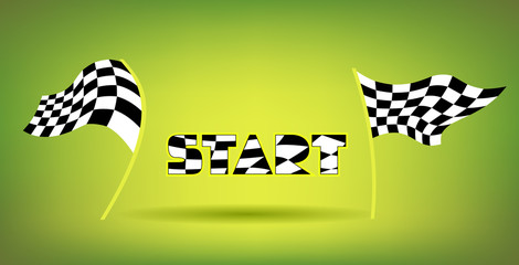Racing Flags And Start Title