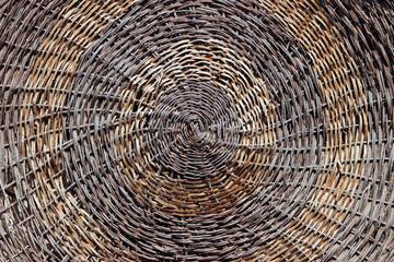 Detail of a woven wicker basket