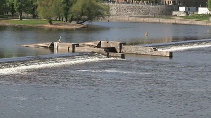 Dam on river Vltava, Prague