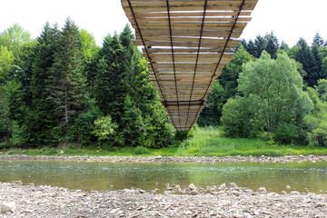 nice hanging bridge across river