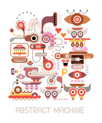 Abstract Machine vector illustration