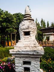 Bhutan traditional pagoda in garden
