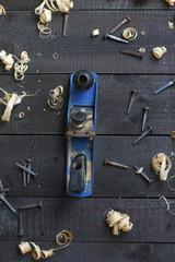 Wood Plane - old used tools
