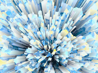 blue crystal burst abstract texture