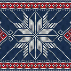 Christmas Seamless Knitted Pattern