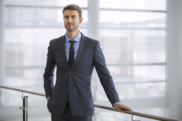 Young handsome businessman portrait