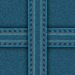 Denim pattern is divided into four zones.